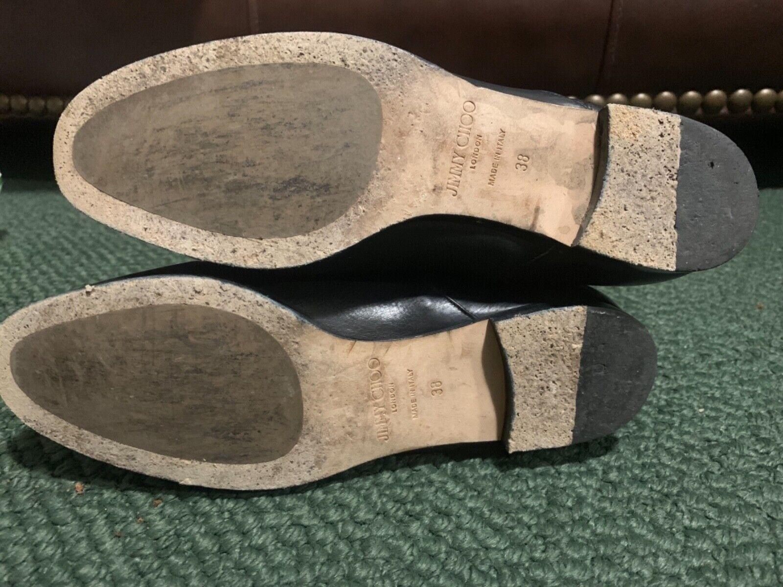 Jimmy Jimmy Jimmy Choo schwarz leather Stiefel 38 8b1de3