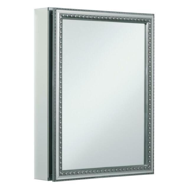 Theon Edge Mirror Door 20 X 14 Surface Mount Frameless Medicine