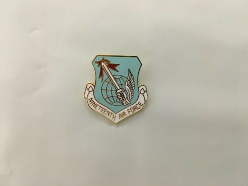 USAF 19TH AIR FORCE HAT PIN MEASURES ONE INCH