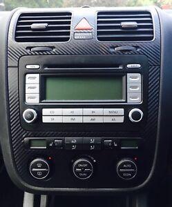 Details about Carbon Fibre effect climatronic dash + air vents to fit VW  Golf Mk5 Jetta Bora