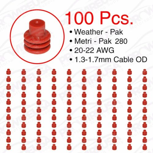 Weather Pack Metri-Pack 280 Series Red Seal 20-22 AWG 100 PCS
