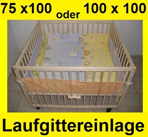 Laufgittereinlage  Laufstalleinlage Nestchen Umrandung100 x 100cm 75 x 100cm