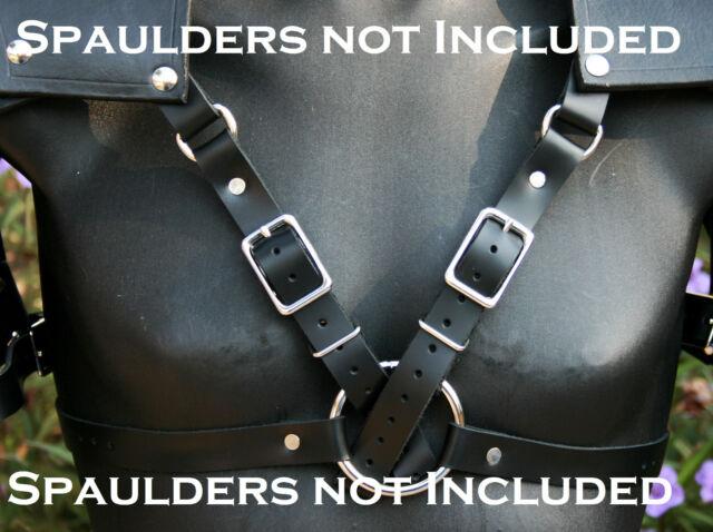 Leather Spaulders Pauldrons Body Harness - Custom made for mine but versatile!