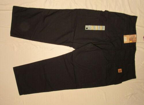 CARHARTT JEAN 46X30 BLACK LOOSE ORIGINAL CANVAS WORK DUNGAREE CARPENTER B151 NWT