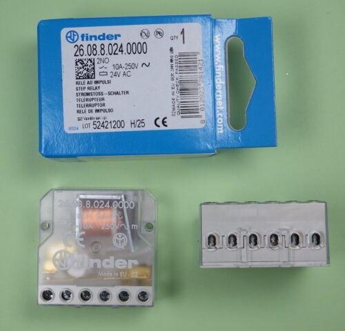 26.08.8.024.0000 Finder Relais Jalousiesteuerung Stromstossschalter 24V DC//AC