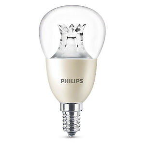 Philips-LED-E14-Tropfen-Lampe-Leuchtmittel-Licht-6W-40W-Warmweiss-230V-Dimmbar