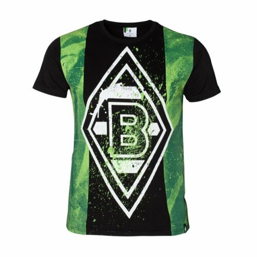 "3XL NEUE KOLLEKTION ORIGINAL T-Shirt BORUSSIA MÖNCHENGLADBACH /""PAINT BLACK/""  GR"