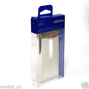 NEW-Genuine-Nokia-Lumia-800-Hard-Cover-Case-CC-3032-Silver-Metallic-NEW-Original