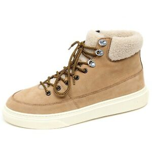F3868 sneaker uomo beige HOGAN H340 scarpe suede/eco fur shoe man ...