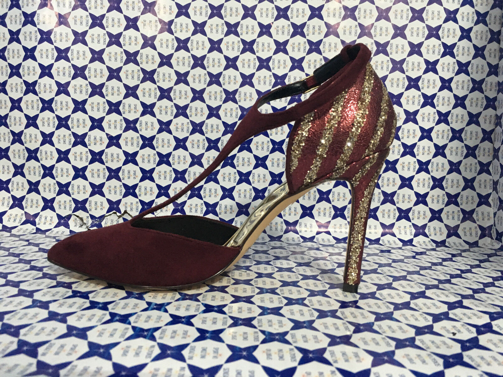 schuhe Tacco Menbur damen - Mary Jane Scamosciata Glitter - - - Bordeaux - 7685 c4d791