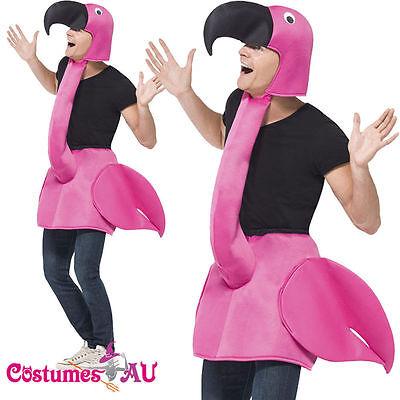 Licensed Unisex Flamingo Bird Costume Mens Ladies Womens Male Female Fancy Dress