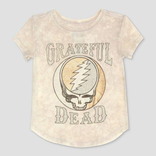 Toddler Girls/' Grateful Dead Short Sleeve T-Shirt White Gray 4T