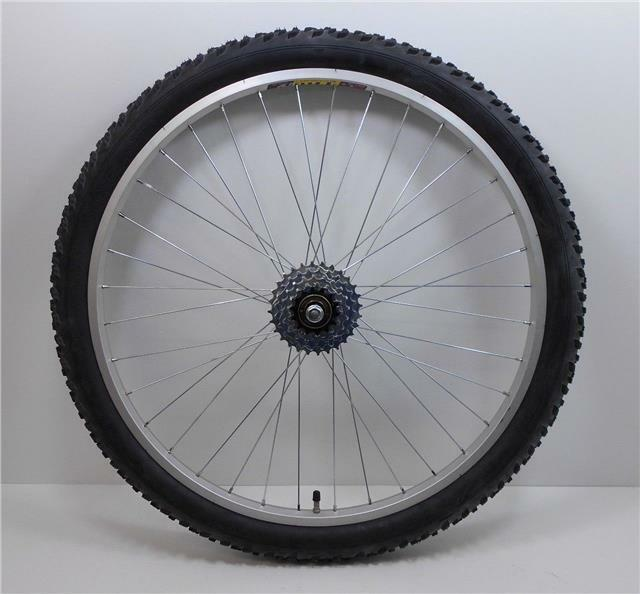 26   Alloy REAR Mountain Bike Wheel & 5 SPEED FREEWHEEL + TYRE & TUBE