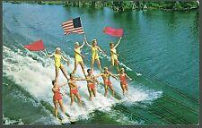Vintage Postcard - The Pyramid - SKI SHOW at CYPRESS GARDENS, FLORIDA - 1969