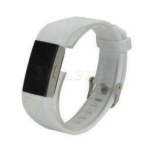 Sport Silicone Rubber Accessory Band Wriststrap Metal Buckle For Fitbit Charge 2