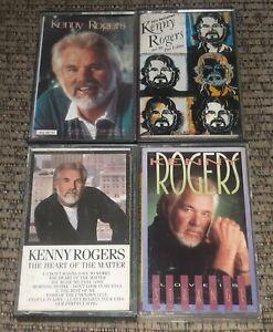 Kenny Rogers 4 Cassette Tape Lot Country HEART MATTER/60s REVISED/LOVE/STRANGE