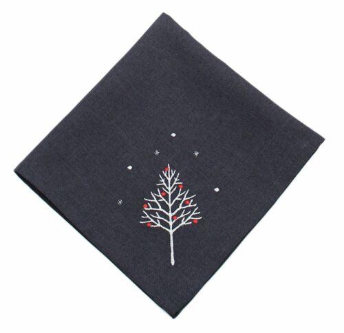 Winter Woods brodé Noël Serviette 45 cm x 45 cm