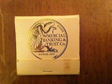 Vintage Commercial Banking & Trust Company Woodster Ohio Bank Banker Matchbook
