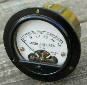 Vintage-HOYT-Model-17-3-MICROAMPERES-D-C-GAUGE