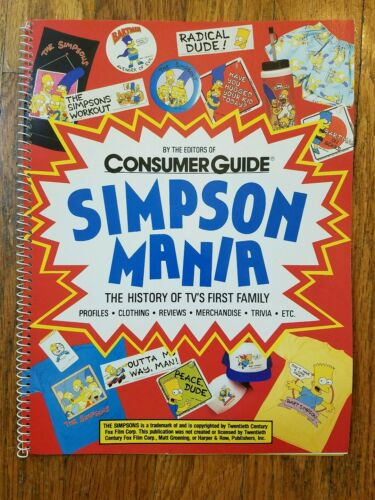 Consumer Guide Simpson Mania 1990 Book History of America/'s First Family