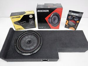 2004 to 2012 Chevy Colorado Ext Cab Subwoofer Box Enclosure Sub amp wiring Combo