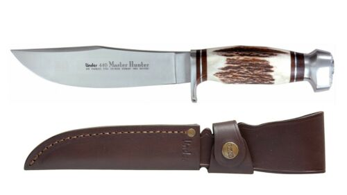 Linder Master Hunter Bowiemesser Outdoormesser Hirschhorn Jagdmesser Messer
