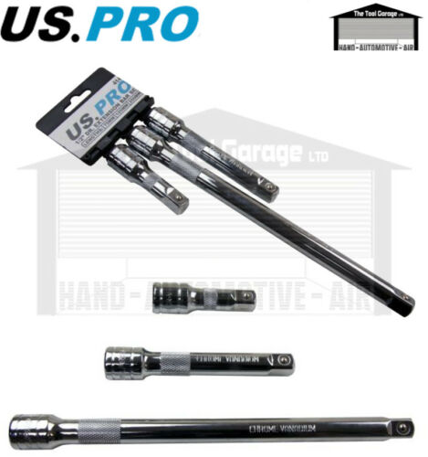 US PRO Tools 3pc 1//2/'/' dr Extension Bar Set For Sockets Socket NEW 4141