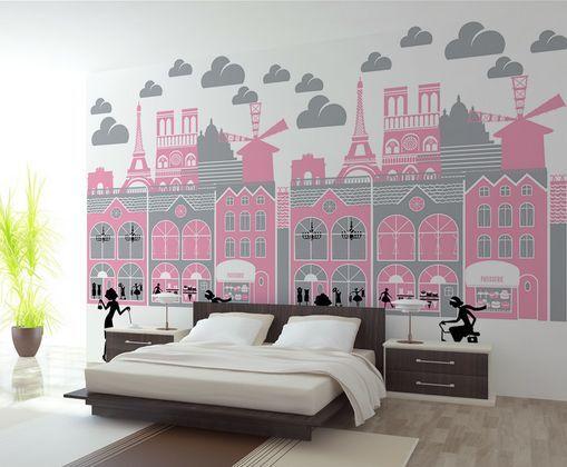 3D Stadt-Papier-Schnitt 56 Fototapeten Wandbild Fototapete BildTapete Familie DE