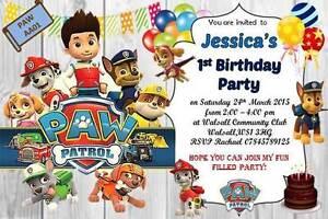 10 X Personalizzata PAW PATROL Festa Di Compleanno