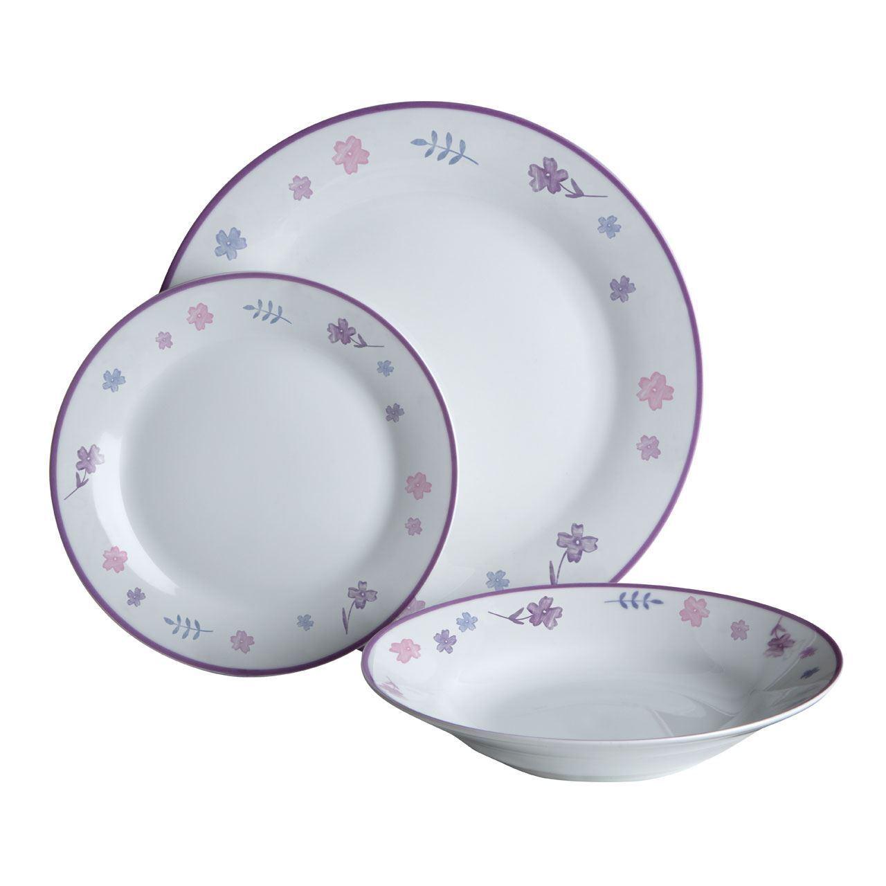 Premier Housewares 12pc Dinner Set, Porcelain, Delicate