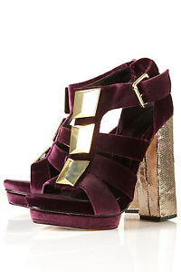 Platform Velvet Topshop In Paloma New Sandals Premium Luxe 6 Uk Purple dIqwzxXP
