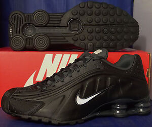best website bfa31 bf9cb Image is loading Nike-Shox-R4-Black-White-Anthracite-SZ-10-