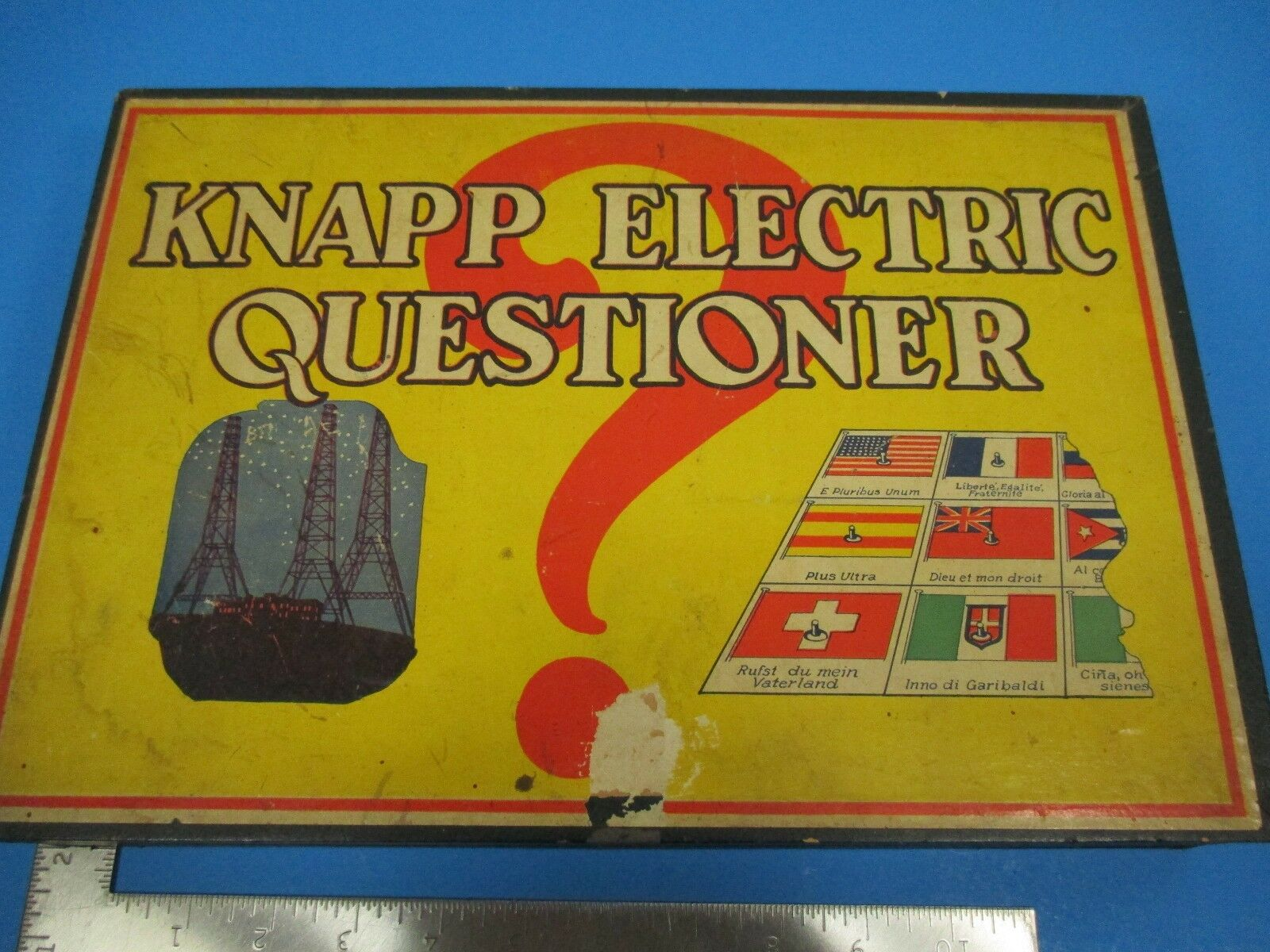 Vintage Knapp Electric Questioner Wooden  scatola with autods No. 325 VS15  ti aspetto