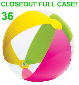Closeout 36 New Wet Set Assorted Beach Balls Multi Color