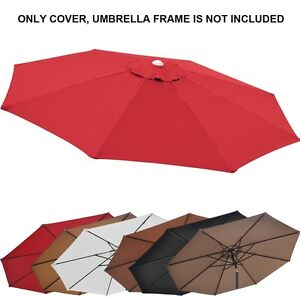 10ft Patio Umbrella Cover Canopy 8 Rib Replacement Top Outdoor Ebay