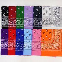 Lot Of 12 Paisley Print Scarf Bandana 100% Cotton 1 Dozen 12 Colors #1