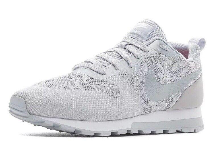 Nike md runner 2 br donna taglia di scarpe da corsa lupo grigio platino 902858 002