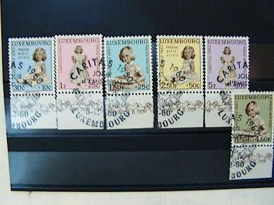 1960 Luxemburg Fdc Satz 631-636 Ersttagsstempel Sonderstempel Briefmarken Schrecklicher Wert