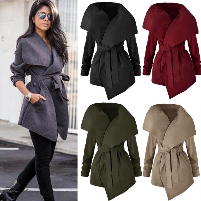 Stylish Womens Winter Trench Coat Warm Parka Overcoat Ladies Long Jacket Outwear