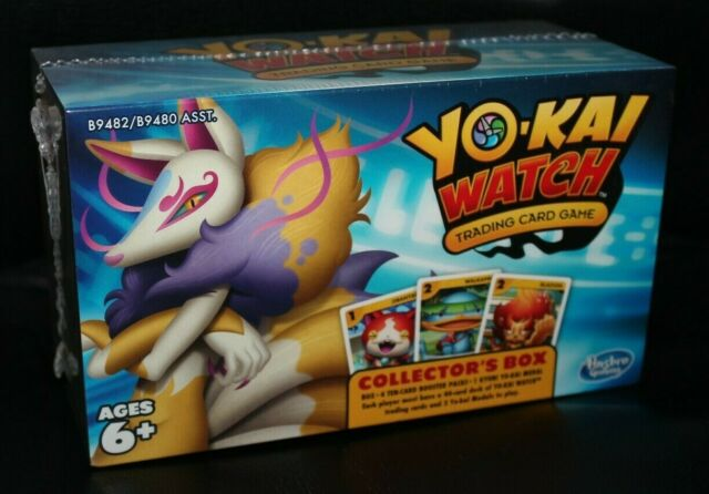 Yo Kai Watch Trading Card Game 4x Booster Packs Collector S Box Kyubi Medal For Sale Online Ebay