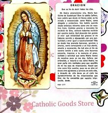 Oracion A La Virgen Santisima de Guadalupe - Spanish - Paperstock Holy Card