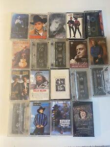 country music cassette lot of (19) nelson alabama garth reba mcgraw rogers dunn
