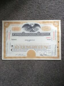 United-States-Gypsum-Co-Dated-1963-5-shares-Invalid-SHARE-CERTIFICATE