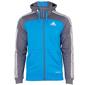 adidas herren outdoor fleece jacke mit kapuze sharpblue climawarm neu. Black Bedroom Furniture Sets. Home Design Ideas