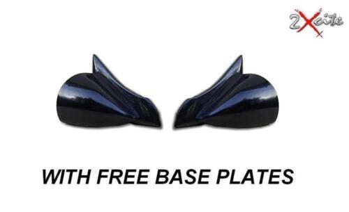 RENAULT 5 BLACK DTM MANUAL PAIR OF DOOR WING MIRRORS /& BASE PLATES