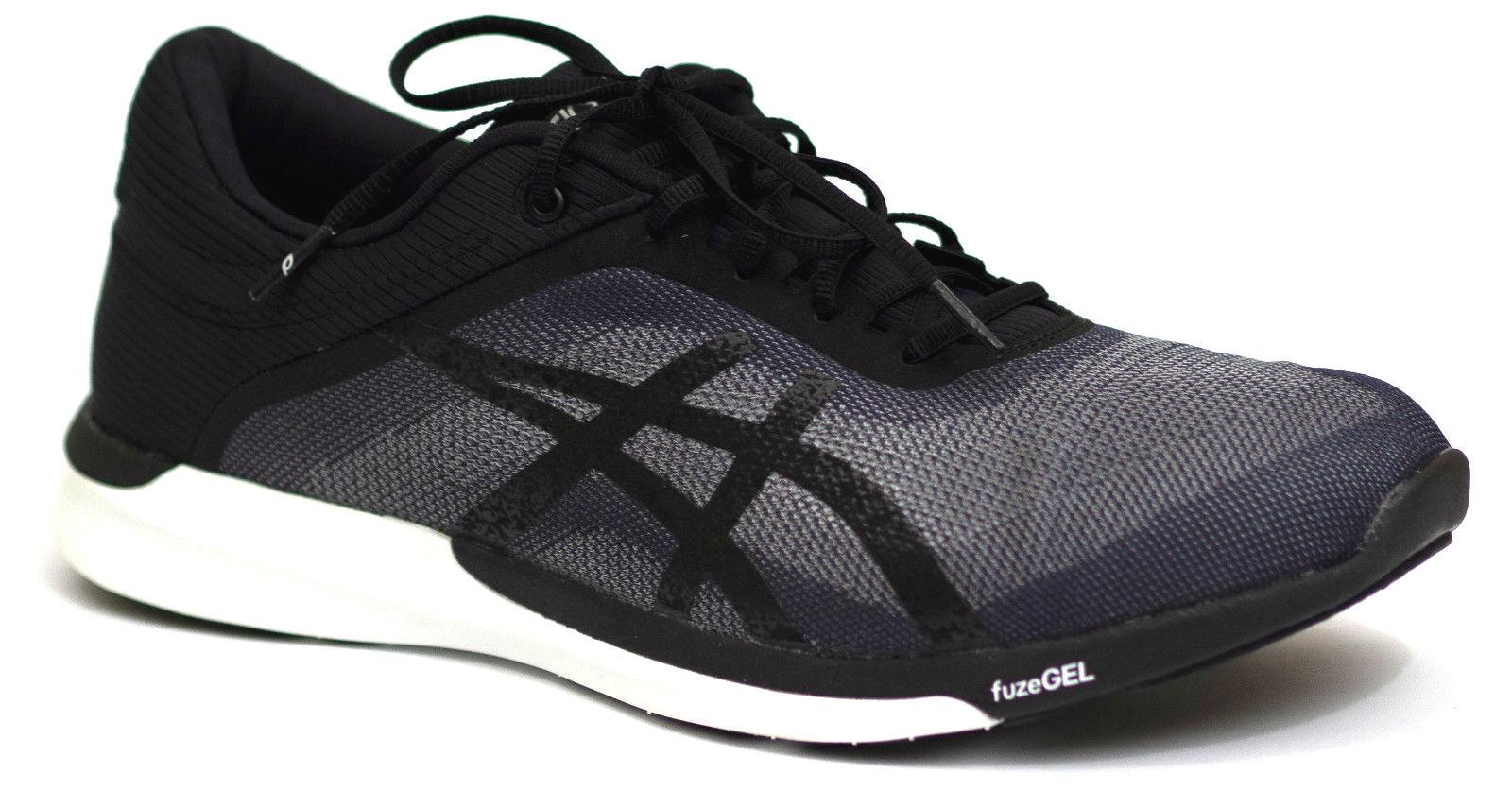 Asics fuzex Rush cortos t718n 47 Fuze gel de ejecución zapatillas de deporte negro gris men nuevo