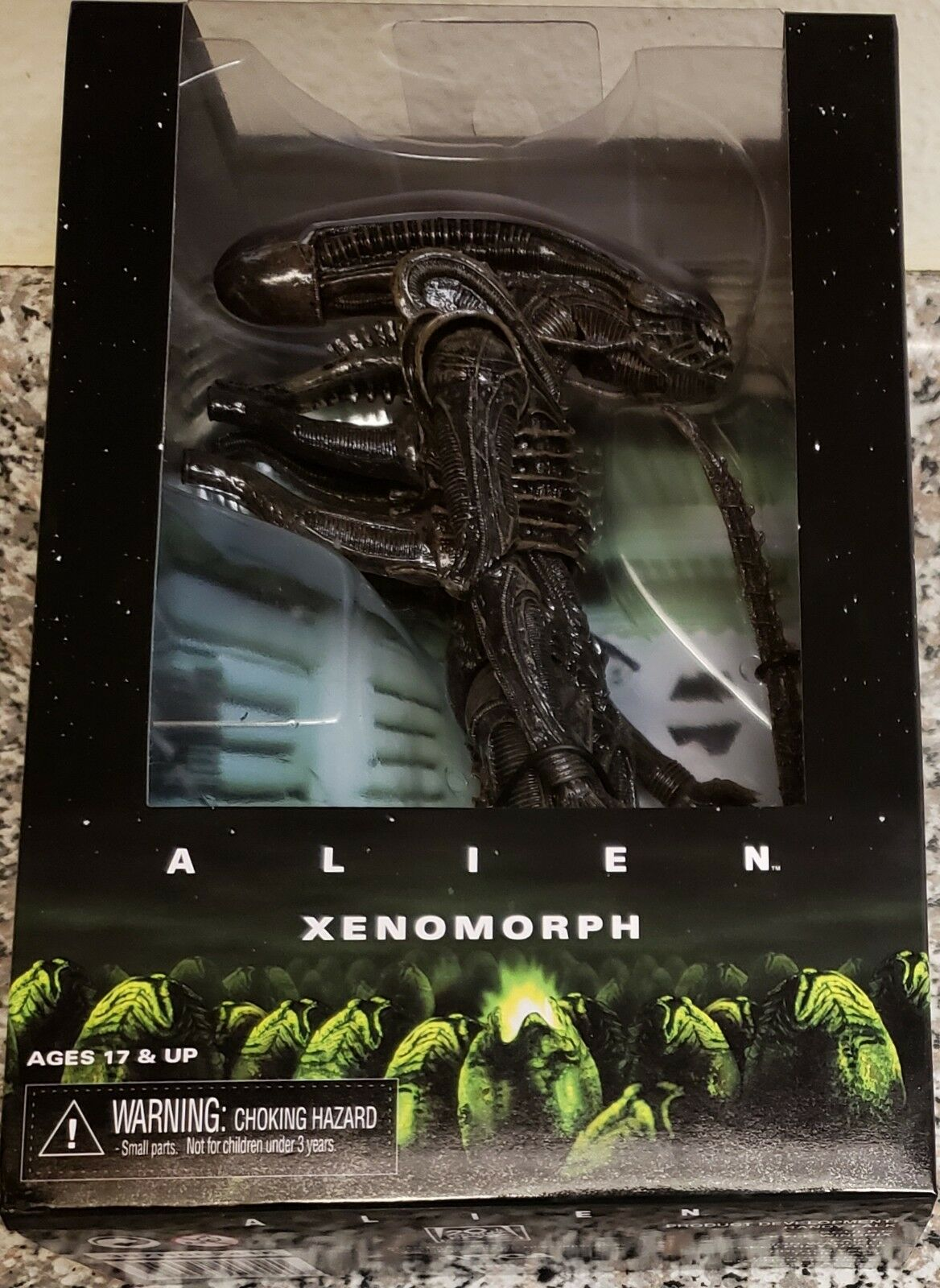 NECA ALIEN XENOMORPH, 1979 BIG CHAP 7  FIGURE, WINDOW BOX (NEW & RARE)