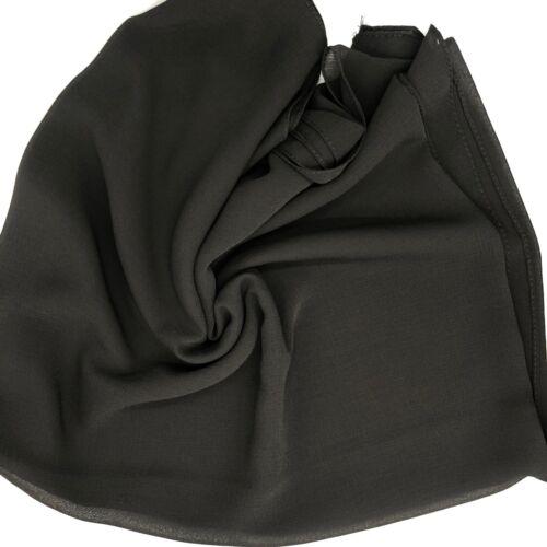Crimp Chiffon Scarf Hijab Maxi High Quality Sarong Shawl Wrap Soft Georgette