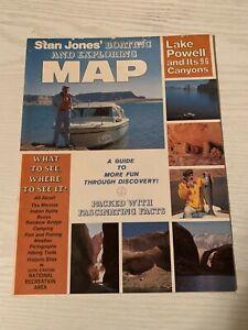 VINTAGE Stan Jones BOATING and EXPLORING Map of LAKE ...