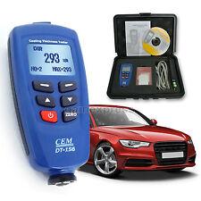 CEM DT-156 Pro Paint Coating Thickness Meter Gauge Auto F/NF Probe Tester 1250um
